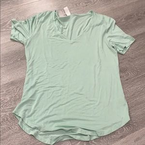 Mint Green Old Navy V-Neck Tee